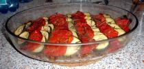 Tian de tomate et de courgette