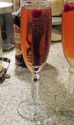 Cocktail mousseux rose 1