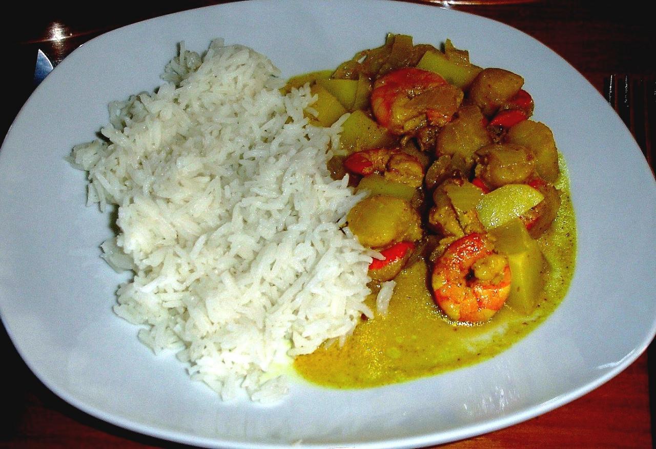 Hervorragend Curry antillais aux St jacques et crevettes LO69