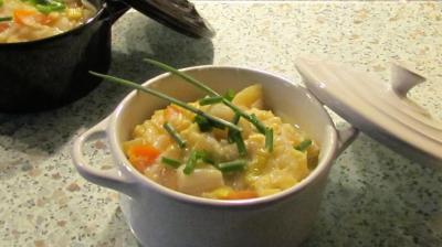 Fondue de poireaux carottes et pommes de terre 1