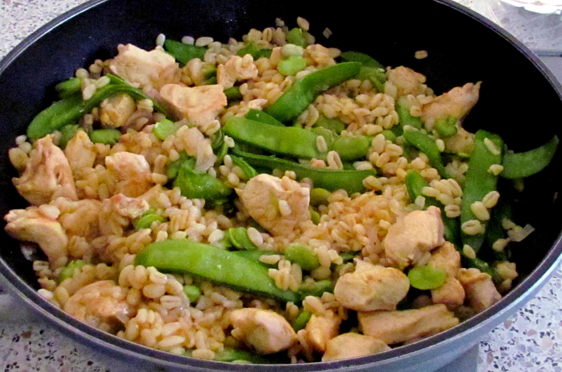 Poulet curry bl f ve pois gourmand - Cuisiner les pois gourmands ...