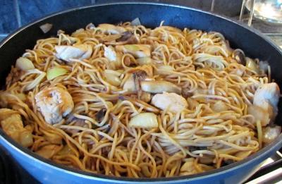 Wok de dinde aux nouilles chinoises 1
