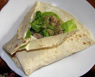 Wraps au thon et au concombre